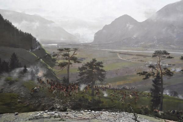 Riesenrundgemälde Schlacht am Bergisel – Ausschnitt. © Gurschler