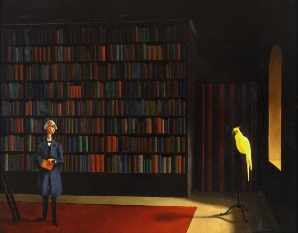 Franz Sedlacek: Bibliothek (1926); OÖ Landesmuseum; © Bildrecht, Wien, 2014