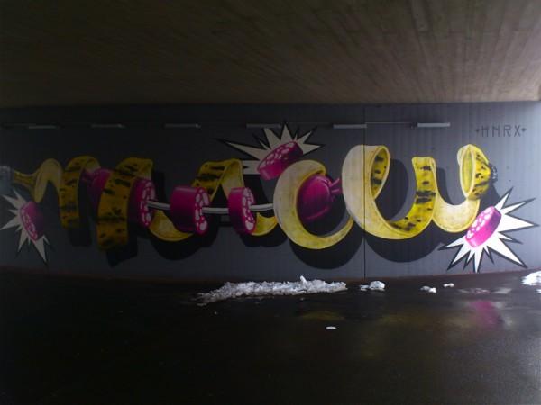 HNRX Graffiti Banane und Wurst ©susannegurschler
